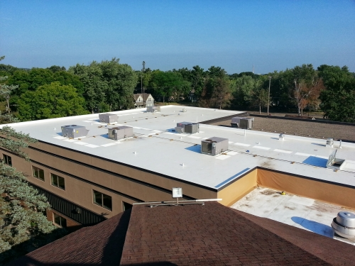 Exceptional Eau Claire Roofing Used 50 Mil White Duro Last On The Trinity Lutheran  Church Hudson, WI Project.