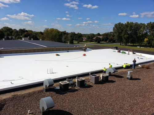 Eau Claire Roofing Installed 8,500 Square Feet Of 50 Mil White Duro Last  During September Of 2014.