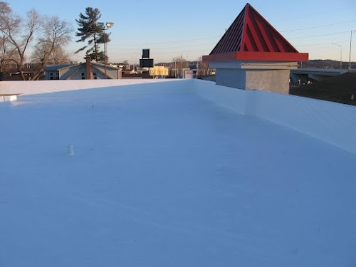 Full Tear Off Of Pawn Doctors White PVC Commercial Roofing System. Pawn  Doctors   Eau Claire